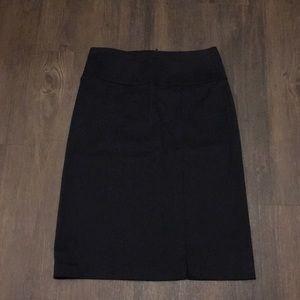 BANANA REPUBLIC Womens Pencil Skirt Black Stretch